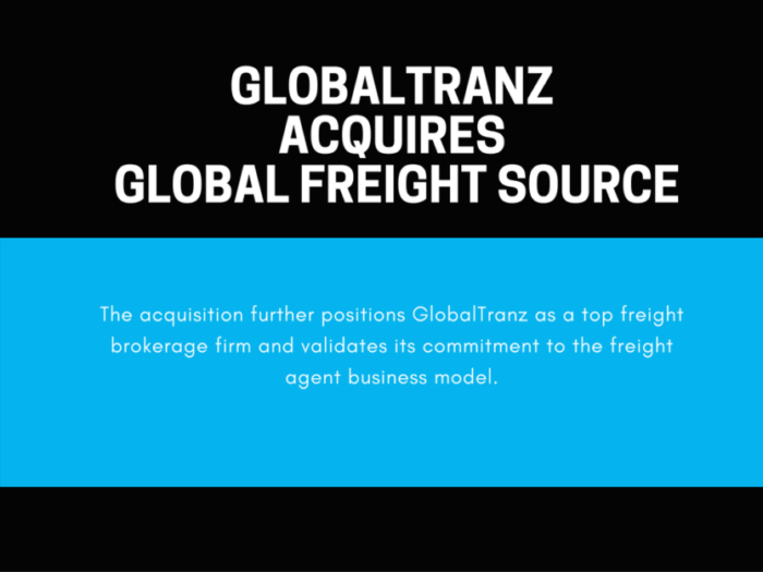 GlobalTranz Announces Acquisition of Global Freight Source