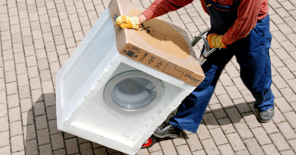 White Glove Delivery of Washer