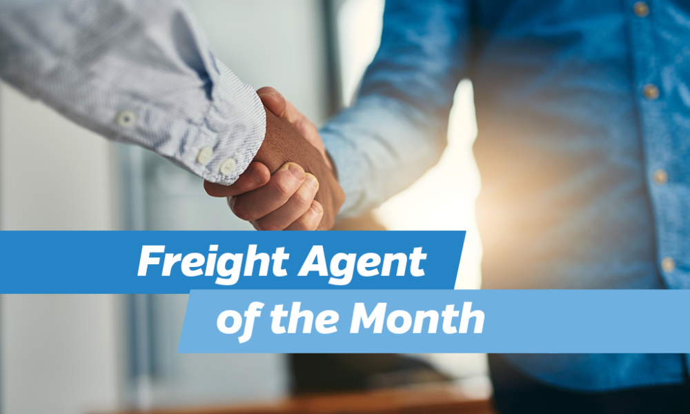 Freight Agent of the Month
