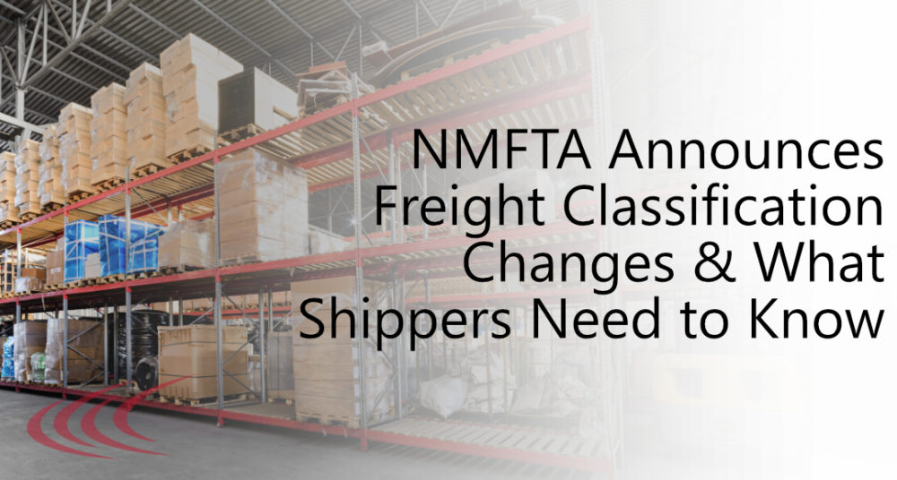 Freight Classification Changes