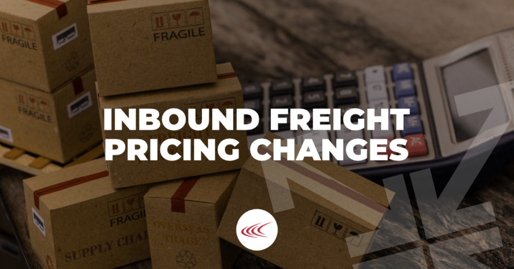 Inbound Freight Pricing Changes