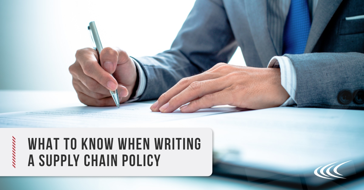 Supply Chain Policy