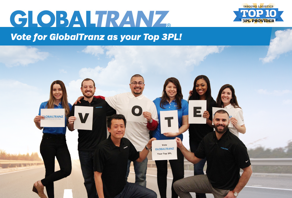 Vote for GlobalTranz in the 2018 Inbound Logistics Top 3PL Awards.
