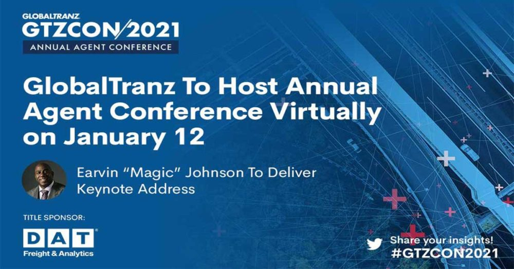 Magic Johnson will be the keynote speaker at the GlobalTranz annual agent conference