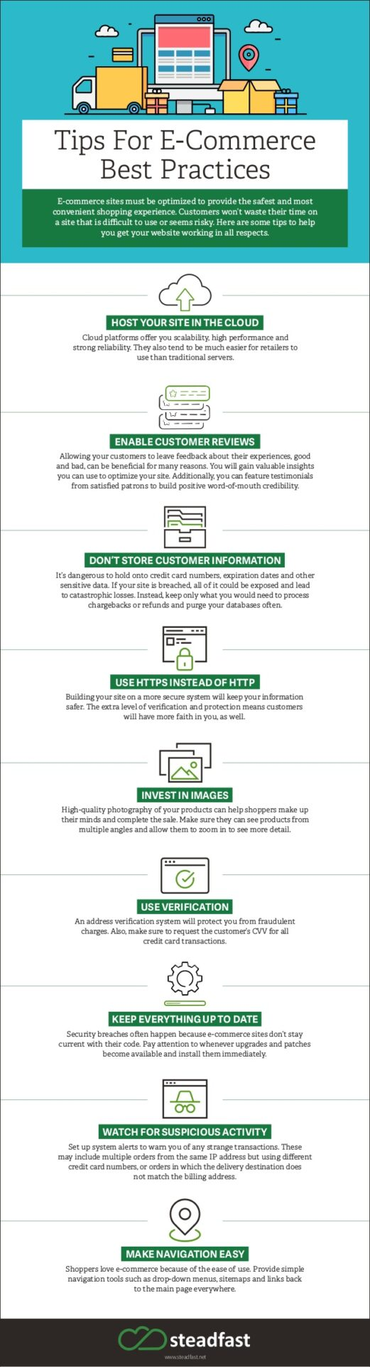 e-commerce best practices infographic