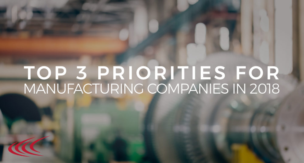 priorities for manufacturing