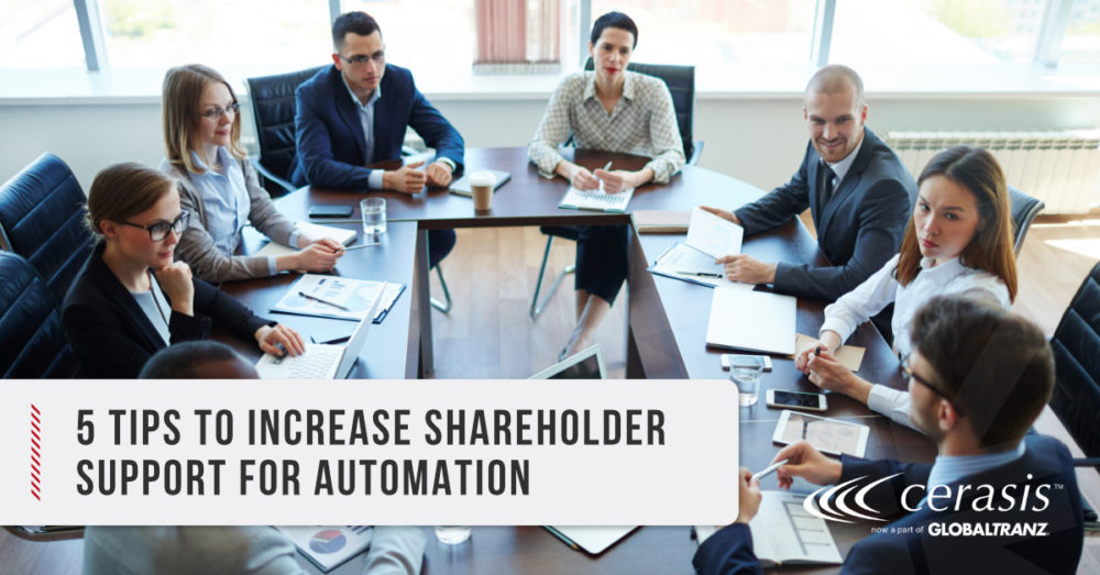 shareholder support for automation in logistics