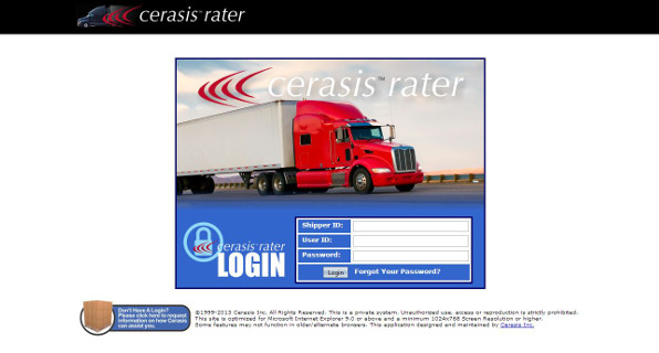 transportation management system cerasis rater