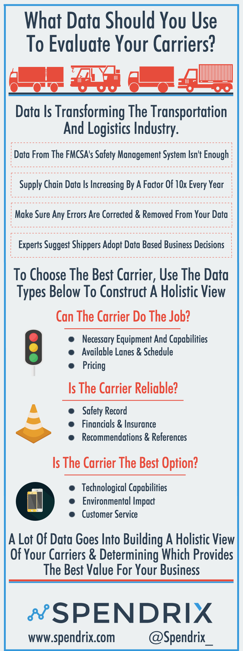 truck carrier rates infographic Data To Evaluate Carriers